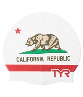 TYR California Republic Graphic Silicone Swim Cap