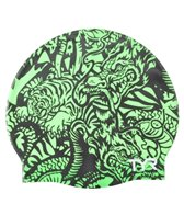 TYR Dragon Days Graphic Silicone Swim Cap