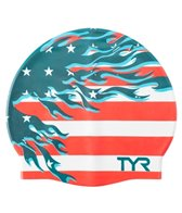 TYR Blazing Patriot Graphic Silicone Swim Cap