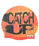 TYR Catch Up Graphic Silicone Cap