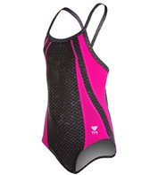 TYR Pink Viper Youth Diamondfit One Piece Swimsuit