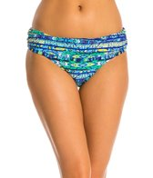 Jessica Simpson Totem Shirred Skirted Bikini Bottom