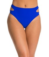 Red Carter Splice & Dice Cut Out High Waist Bikini Bottom