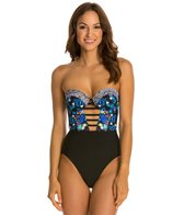Red Carter Butterfly Effect Underwire Bustier One Piece
