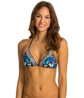 Red Carter Butterfly Effect Halter Triangle Bikini Top