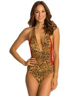 Indah Pagoda Reversible Crochet Side One Piece Swimsuit