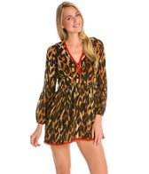 Indah Adila Long Sleeve Mini Hippie Cover Up Dress