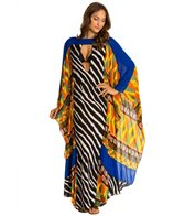 Indah Asante Printed Maxi Kaftan Cover Up
