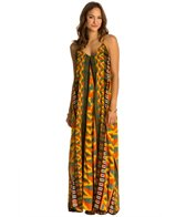 Indah Penda Printed Lined Maxi Dress w/ Pockets