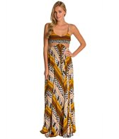 Indah Innocence Smocked Cutaway Palazzo Maxi Dress