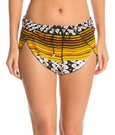 Indah Basso Printed Drawstring Wrap Cover Up Short