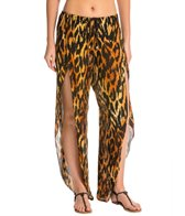 Indah Val Printed Petal Split Drawstring Cover Up Pant
