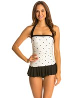 Eco Swim Space Dot Shirred Halter Swimdress