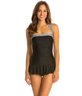 Eco Swim Poise Grommet Shirred Halter Swimdress