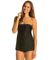 Eco Swim Shimmer Side Slit Grommet Tankini Top