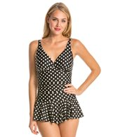 Eco Swim Pearl Dot Shirred OTS Swimdress