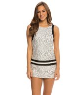 Eco Swim Speckled Dot Highneck Scoopback Swimdress