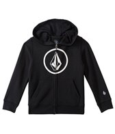 Volcom Boys' Zip Up Logo Hoodie Sweater (2T-4T)