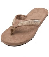 Indosole Men's Tan Burlap Flip Flop