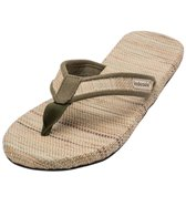 Indosole Men's Green Grass Mat Flip Flop