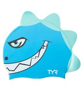TYR Kids' Charactyrs Dino Destroyer Silicone Swim Cap