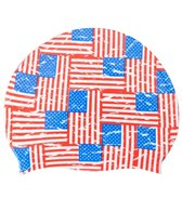 Sporti Flags on Flags Silicone Swim Cap Jr.