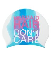 Sporti Mermaid Long Hair Don't Care Silicone Swim Cap