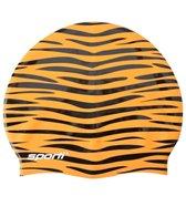 Sporti Tiger Print Silicone Swim Cap