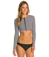 Volcom Broken Lines L/S Crop Rash Guard