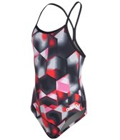 Arena Youth Lava Light Drop Back One Piece Swimsuit