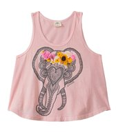 O'Neill Girls' Adorn Elephant Graphic Tank (7-14yrs)