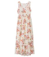 O'Neill Girls' Adrina Hi-Lo Ruffle Maxi Dress (7-14yrs)