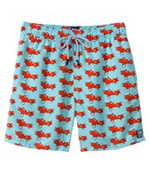 Tom & Teddy Blue & Orange Airplane Swim Trunk