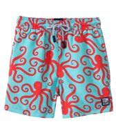 Tom & Teddy Red & Blue Octopus Swim Trunks (12mos-12yrs)