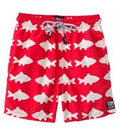Tom & Teddy Red & White Fish Swim Trunks (12mos-12yrs)