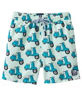Tom & Teddy Peacock Blue Scooter Swim Trunks (12mos-12yrs)