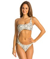 Vix Serpent Off White Vitoria Cut Out One Piece Swimsuit