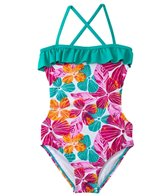 Roxy Girls' Jungle Times Cut Out One Piece (7yrs-16yrs)