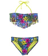Roxy Girls' Hot Tropics Fringe Two Piece Set (7yrs-16yrs)