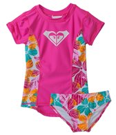 Roxy Girls' Jungle Time Floral Rash Guard Set (2yrs-6X)