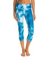 HARDCORESPORT Women's Watercolor Blue Bam Crop