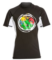 Angry Birds Boys' Ready to Rumble Short Sleeve Rash Guard (4yrs-12yrs)
