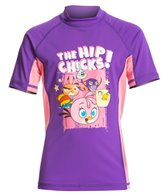 Angry Birds Stella Girls' Hip Chicks Short Sleeves Rash Guard (10yrs-16yrs)