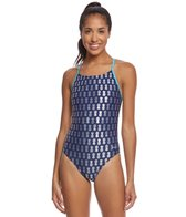 Sporti Pineapple Foil Micro Back Swimsuit