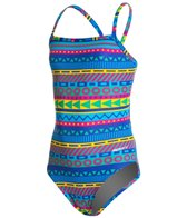 Sporti Spiffiez Linear Tribal Thin Strap Swimsuit Youth