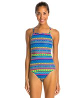 Sporti Spiffiez Linear Tribal Thin Strap Swimsuit