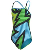 Sporti Spiffiez Comic Effects Thin Strap Swimsuit Youth