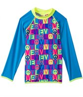 TYR Girls' Peace & Love Long Sleeve Rash Guard (4yrs-16yrs)