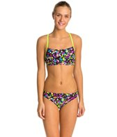 Speedo Flipturns Spectacular Splatter Two Piece Swimsuit