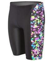 Speedo Flipturns Spectacular Splatter Printed Jammer Swimsuit